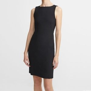 Stretch Wool Shift Dress